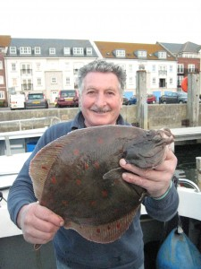 Plaice 4lb, 30th August 2014.