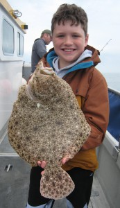 Turbot 3lb 8oz for 9 year old Tyhon, June 2016